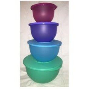 New! Tupperware Impressions bowls. Set of 4